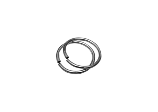 65mm Sterling Silver Round Tube Bangle