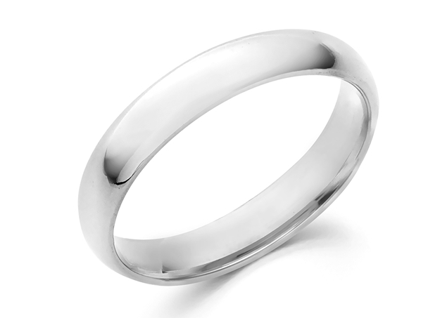 Half Round Wedding Band 4mm For Man