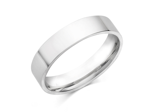 Flat Comfort Fit Wedding Bands 6mm