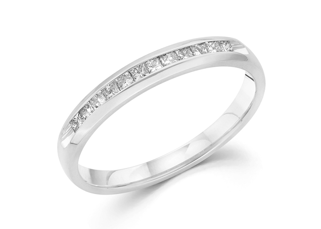 Princess Cut Channel Ring