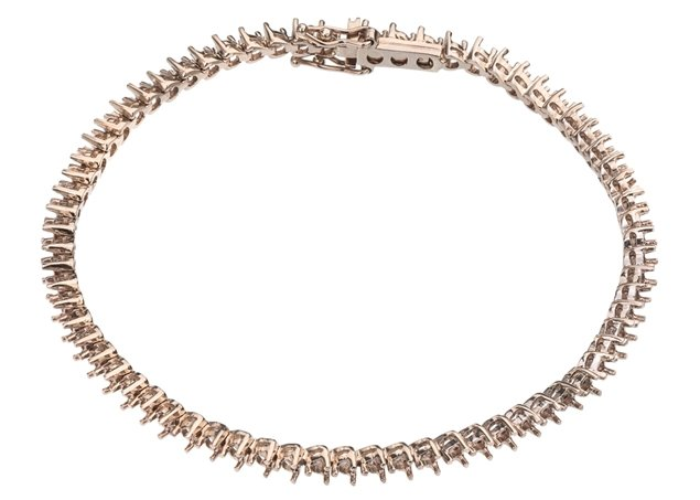 3 Prong Diamond Tennis Bracelet