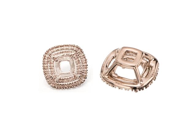 Cushion Diamond Setting With Side Stone