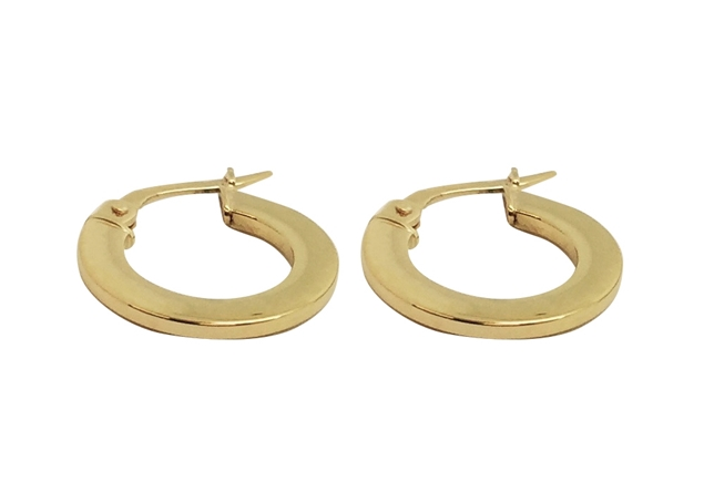 16mm Round Flat Hoop Earring