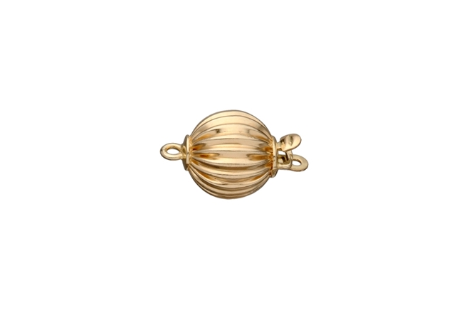 Corrugated Ball Bead Clasp-6mm