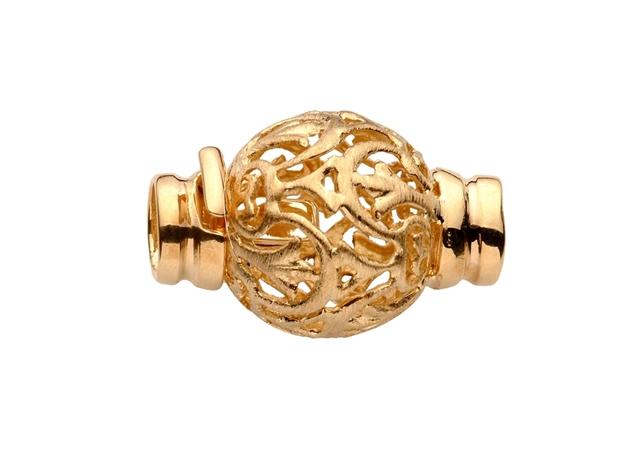 Gold Fillgre Ball Clasp