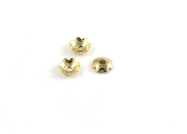 Fluted Flower Bead Pearl Spacer