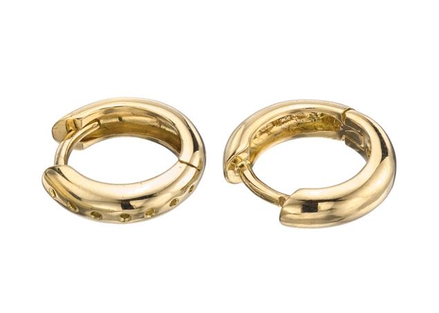 11mm Diamond Hoop Earring