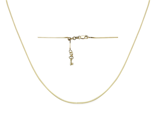 0.8mm Adjustable Box Chain With Key