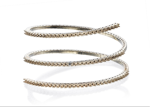 Pave Diamond Bangle-3 Lines