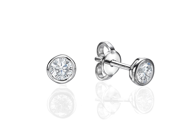 Bezel Set Earrings 0.5 ct tw in