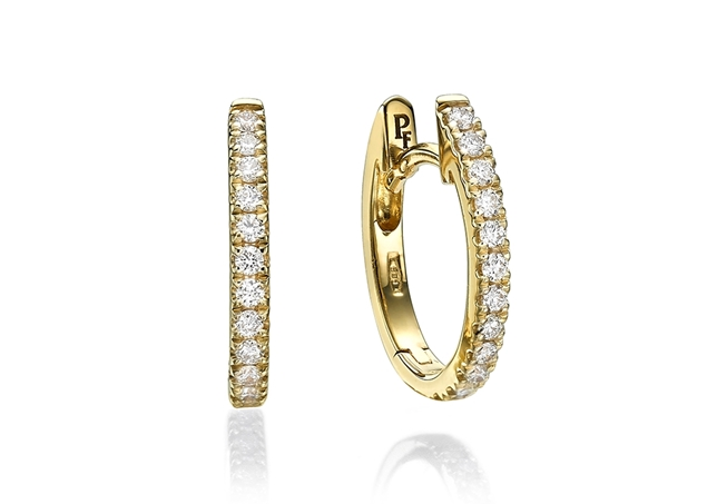 13x11mm Hoop Earrings 0.20 ct tw in