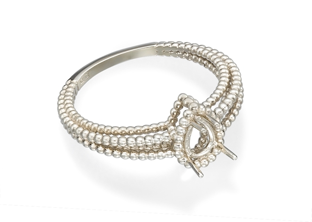 Pear Twisted Ring
