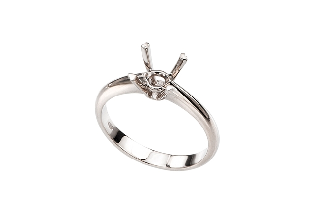 4 Prong Diamond Solitaire Ring