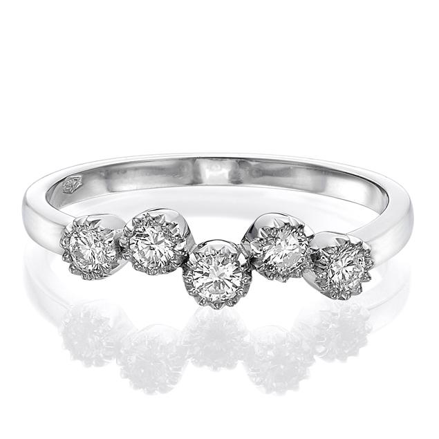 תמונה של טבעת לשיבוץ-5 שטונים 0.25 קראט