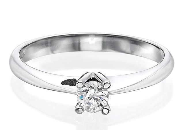 תמונה של טבעת סוליטר לשיבוץ 4 שיניים 0.30 קראט