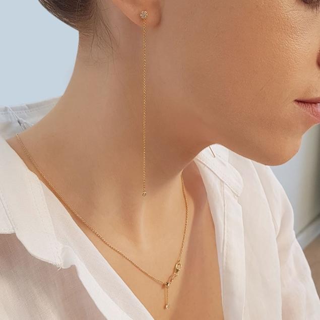Изображение Single One Diamond Earrings
