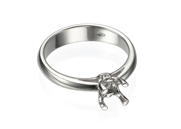 תמונה של טבעת אירוסין סוליטר לשיבוץ