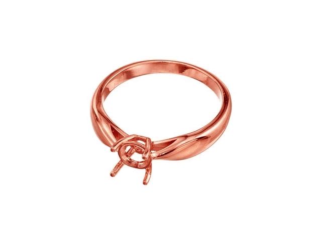 תמונה של טבעת סוליטר 4 שיניים