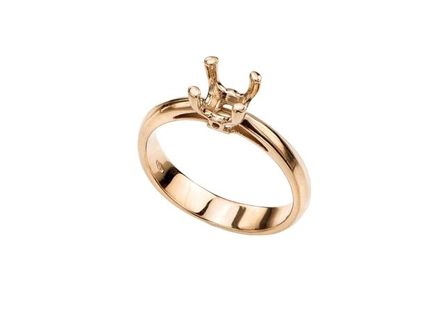 תמונה של טבעת לשיבוץ קתדראל