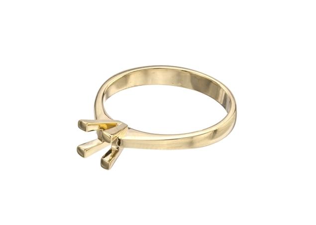 Изображение Princess Solitaire Ring 4 Prong