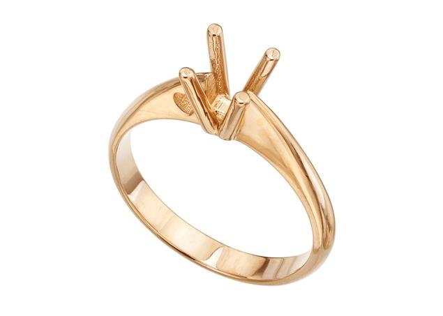 תמונה של טבעת סוליטר לשיבוץ 4 שיניים