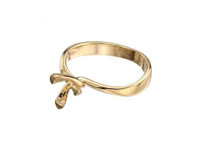תמונה של טבעת אירוסין לשיבוץ 3 שיניים