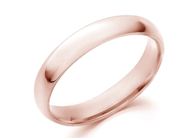 Picture of Domed Comfort Fit Wedding Band-4mm