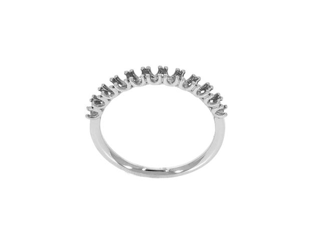 תמונה של טבעת נישואין קלה לשיבוץ 11 אבנים