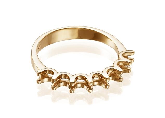 תמונה של טבעת נישואין קלה לשיבוץ
