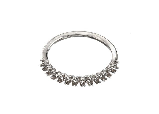 תמונה של טבעת נישואין קלה לשיבוץ 13 אבנים