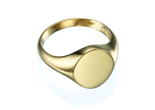 תמונה של טבעת חותם אובלית לגבר