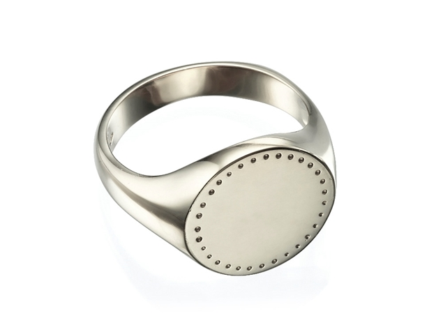 Изображение Engraved Round Signet Ring