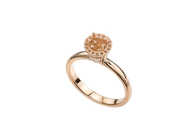 Picture of Diamond Solitaire Crown Ring