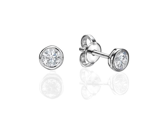 Picture of Bezel Set Earrings 0.2 CTW