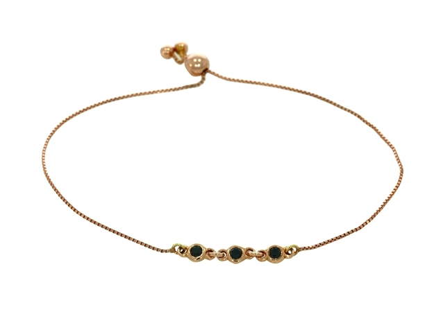 Изображение 18k rose gold bracelet with black diamonds