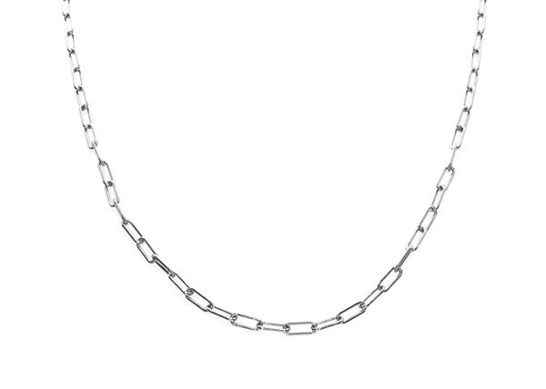 Изображение Flat Anchor Chain Rodium Plated 13x5mm