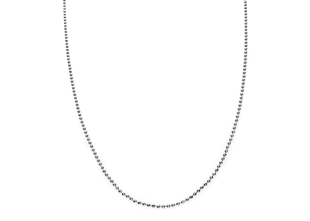 Picture of Diamond Cut Bead Chain Rodium Plated