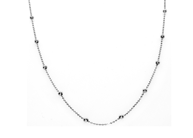Picture of Bead Chain Rodium Plated 2.5mm