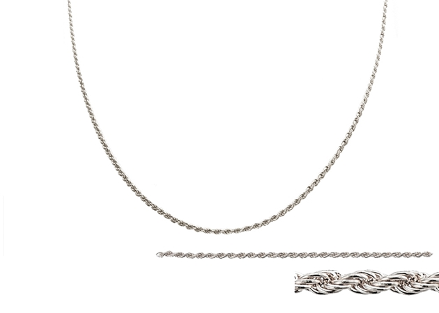 Picture for category Sterling Silver Rope Chain