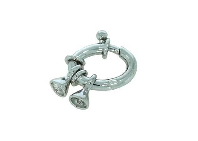 Изображение Oval Spring Ring Rodium Plated 2pcs