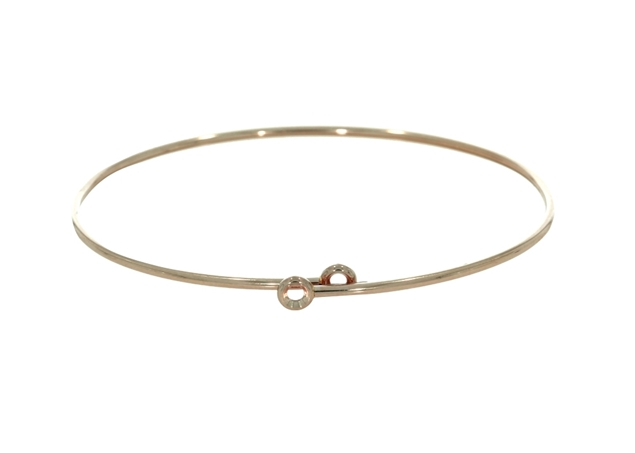 Picture of Diamond Flexible Oval Tube 1.5mm Bangle