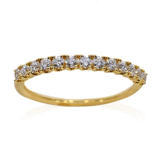 תמונה של טבעת נישואין חצי איטרניטי 0.39  קראט
