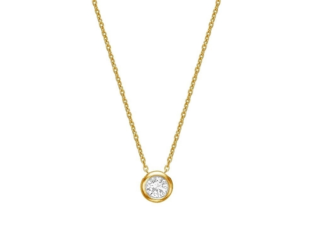 Picture of Bezel Set Diamond Necklace 2.5mm/0.05ct