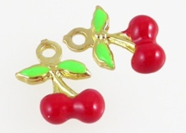 Cherry Enamel Pendant
