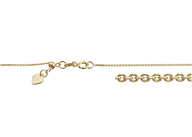 1mm Adjustable Rolo Chain With Heart