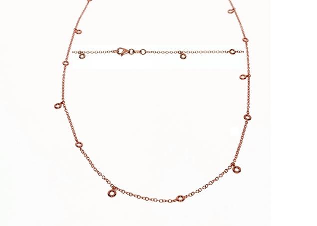 Bezel Diamond Necklace 0.45 CTW