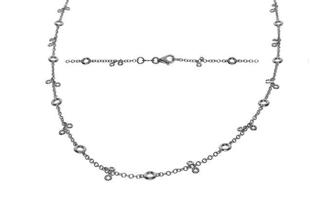 Bezel Diamond Necklace 2.65 CTW