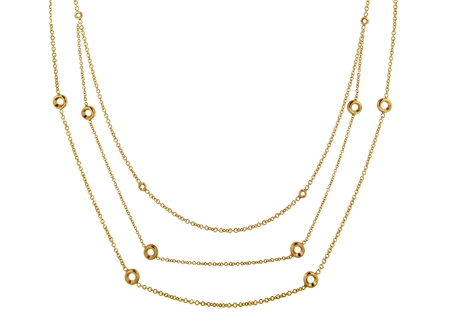 Bezel Set Diamond Necklace-by Meter