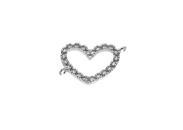 Diamond Infinity Heart Pendant