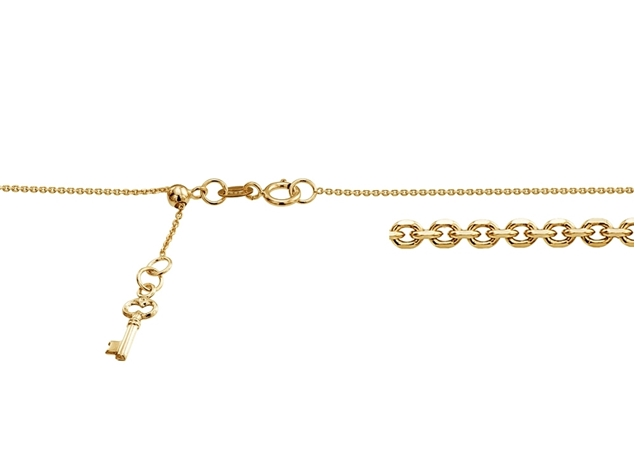 1mm Adjustable Rolo Chain With Key